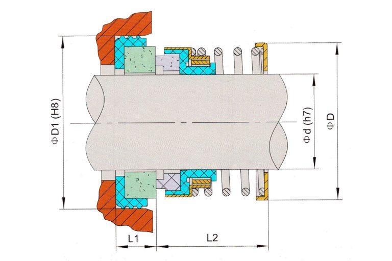 Drawing of mechanical seal KRT D108