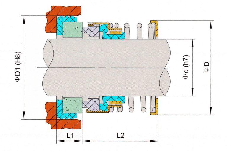 Drawing of mechanical seal KRT D24