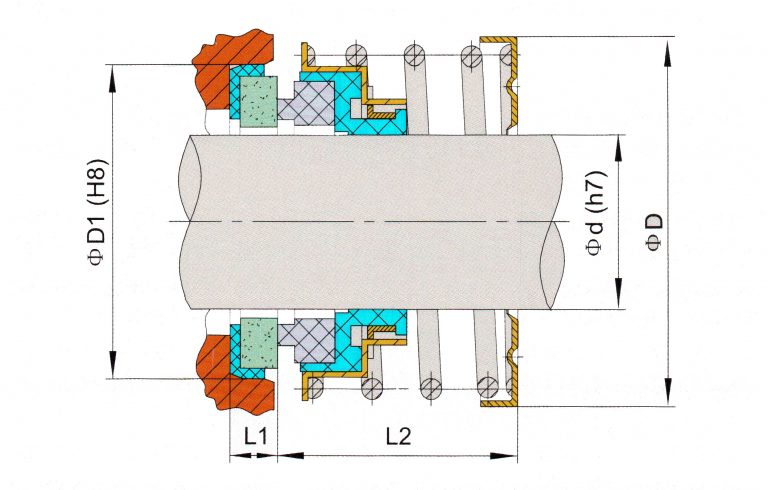 Drawing of mechanical seal KRT D570