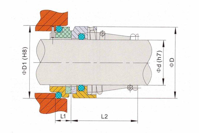 Drawing of mechanical seal KRT DE41 / U2