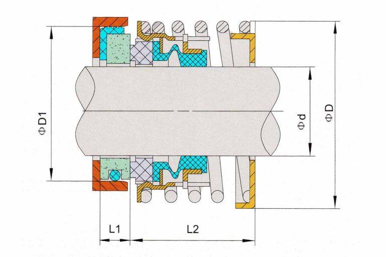 Drawing of mechanical seal KRT DFBD