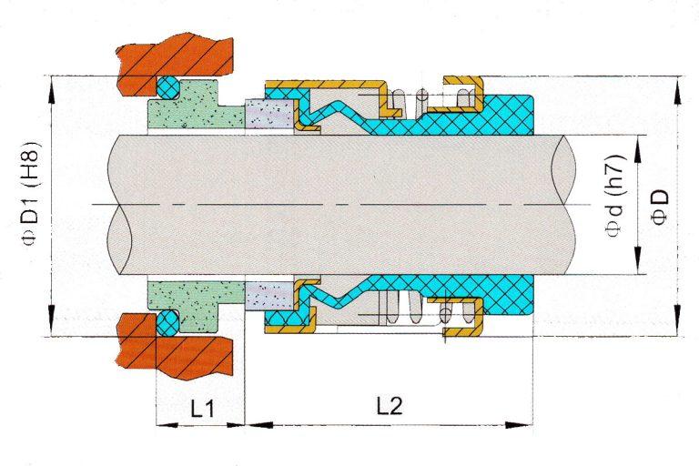 Drawing of mechanical seal KRT SHGRB